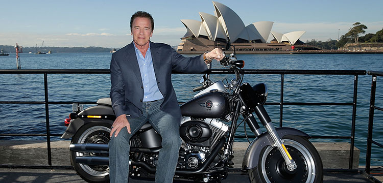Terminator star Arold Schwarzenegger in Sydney for the movies launch