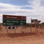 Just reaching the Simpson Desert is a big job. This is the turnoff to Mt Dare.