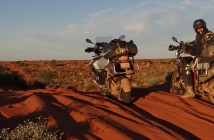 BMW GS in SImpson Desert