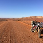 Open road again: Heading along the famous Birdsville Track.
