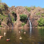 Cooling off in Litchfield National Park, part of the Kadaku Loop tour