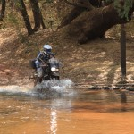 A shallow water crossing. Most riding was on tarmac