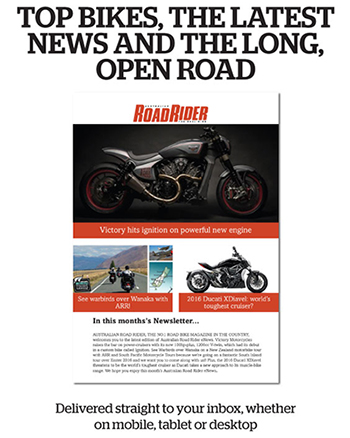 Subscribe to the Road Rider eNews