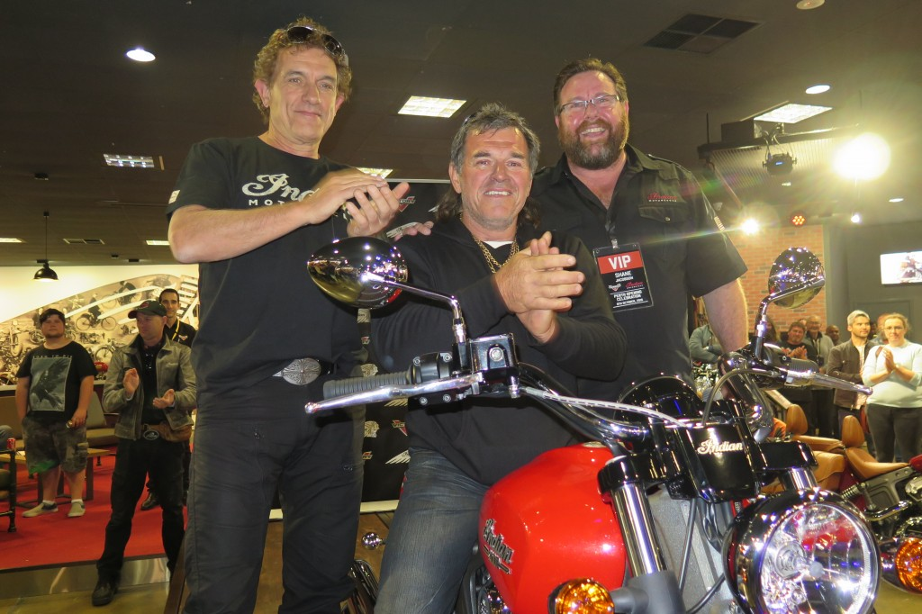 Ian Moss, Mark (bike winner) and Shane Jacobsen