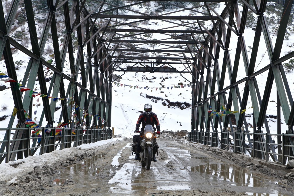 The mechano steel bridge at Jaswant Garh army post